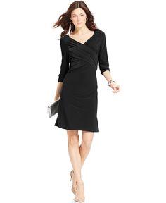 Ny Collection B-Slim Three-Quarter-Sleeve Dress