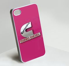 pink cummins crome design for iPhone 4/4S/5, Samsung S4/S3/S2 case cover | sedoyoseneng - Accessories on ArtFire