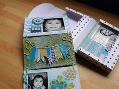 Tuto pour réaliser un super mini album avec 2 triptyques et sa boîte. Création de Marie Ledoux. A voir sur le blog Au Doux Scrap. How to ; step by step ; DIY