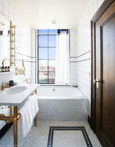 The Ludlow hotel, New York #Manhattan #USA #NewYork #hotel #easyguide #design #bathroom