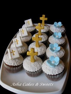 holy communion cupcakes - Google Search