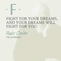 Fight for your dreams - The Alchemist. Reread this during the flight. So compelling. I'd almost forgotten how much I love this book.