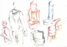 En MANAA les modèles prennent des couleurs  #figuredrawing #figure #drawing #art #bellecourecole