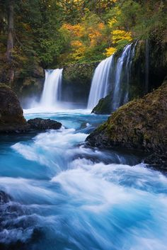 Waterfalls - Columbia River Gorge, Washington State