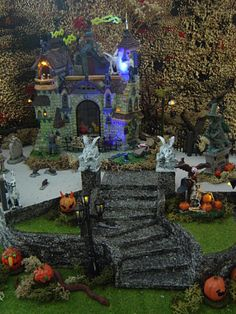 Spooky town vignette