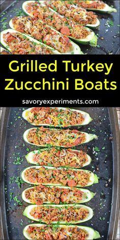 Grilled Turkey Zucchini Boats Recipe - Looking for grilling recipes? Turkey stuffed zucchini makes the perfect healthy dinner! One of the best zucchini recipes I've ever made. ad www.savory (Best Ever Turkey) Healthy Grilling Recipes, Healthy Cooking, Healthy Eating, Cooking Recipes, Vegetarian Grilling, Keto Recipes, Dinner Recipes, Grilled Recipes, Healthy Carbs