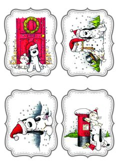 Etiquetas de navidad.