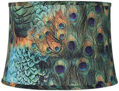 Peacock Print Drum Lamp Shade, http://www.amazon.com/dp/B00G5LQA20/ref=cm_sw_r_pi_awdm_i0g0tb126SJ12