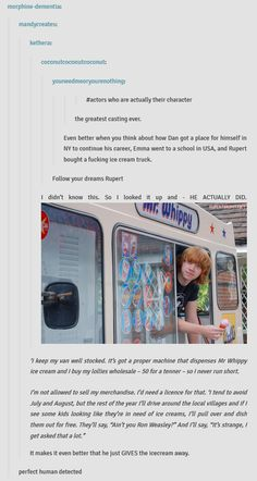 Rupert Grint Is More Than Awesome...