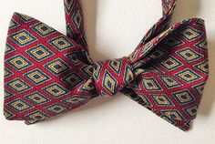 Silk Bow Tie - HAPPY JOE Conservative - One-of-a-Kind, Handcrafted for Men - Freestyle