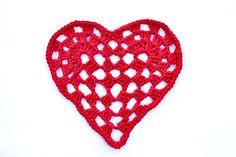 Corazón romántico en Tejido Crochet