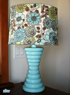 I love how this lamp makeover came out!