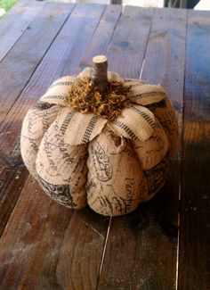 Burlap Jute Organic Pumpkin by LeFrenchLaundry on Etsy, $35.00