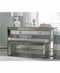 Vanity Sophia Mirrored Collection - Furniture - Macy's