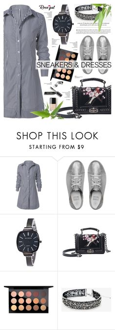"""""""Rosegal 13"""" by cly88 ❤ liked on Polyvore featuring FitFlop, MAC Cosmetics, White House Black Market, Bobbi Brown Cosmetics, stripes, watches, rosegal, sneakerstyle and SNEAKERSANDDRESSES"""