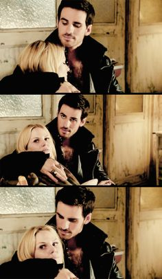 "David could see how much Emma means to Hook. His love for her was obvious. Hook's attitude is like ""I'm not moving from here, whether you like it or not""..."