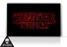 Stranger Things Logo Canvas Print 30x50cm tv series by Occultix