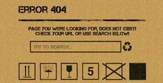 Boxxy 404 Page . Boxxy is simple and nice looking error page in style of cardboard box. Easy to customize (text, error, links). You will be able to search and go to some links. Simple and