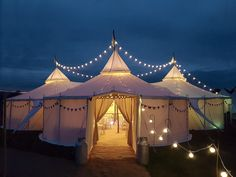 Tepees are the perfect outdoor wedding venue, made all the more beautiful when adorned with festoon lights!