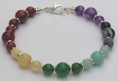 Chakra Bracelet Jewelry Gemstone Beaded by HeartProjects on Etsy, $15.99
