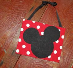 Mickey Mouse hanging sign for bedroom or birthday party