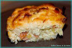 Petits flans au poireau et saumon fumé - https://www.quelquesgrammesdegourmandise.com/petits-flans-poireau-saumon-fume/