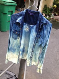 infashuation: How-to: DIY Bleached Denim