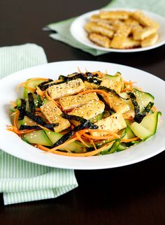 Zucchini Noodles with Pan-fried Tofu — Appetite for China