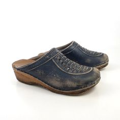 Hey, I found this really awesome Etsy listing at https://www.etsy.com/listing/181732138/blue-wooden-clogs-shoes-vintage-1970s