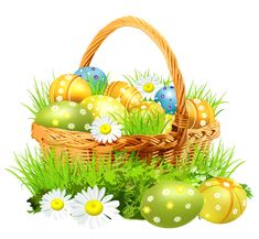 images of easter decoration png clipart | Easter_Basket_with_Eggsand_Daisies_PNG_Clipart_Picture.png?m ...