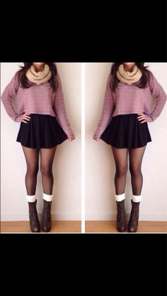 Cute! Infinity Scarves and Skater Skirts are all the trends this season!