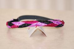 Hot Pink Black Light Pink  Sparkle Glitter BRAIDED by Ladybuglogic, $6.25