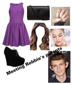 """""""Meeting Robbie's parents"""" by kjp456 ❤ liked on Polyvore featuring Forever Link, Yves Saint Laurent, ULTA and Maybelline"""