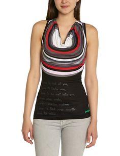 Desigual Pat - Camiseta sin mangas para mujer. 100% viscosa #Desigual #Moda #Mujer
