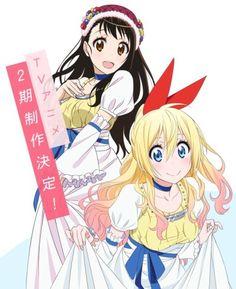 Nisekoi (Chitoge Kirisaki, Kosaki Onodera) Two Juliets Nisekoi, Naoshi Komi, Manga Anime, Anime Art, Sailor Moon, Card Captor, Pokemon, Angel Beats, Sword Art Online
