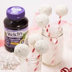 Welch's Snowball Cake Pops Recipe