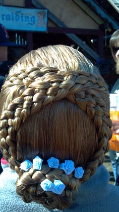 Braid I got done at the Renaissance Festival, Five strands