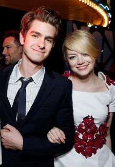 Top 6 Fashionable Celeb Couples at Present - Emma Stone and Andrew Garfield