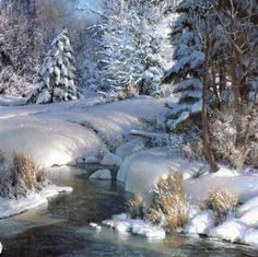"""Glory in Winter"" Artist: Michael Godfrey - Berkley Gallery 