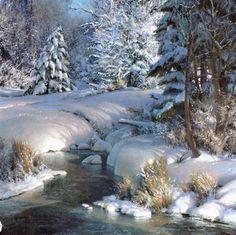 """Glory in Winter"" Artist: Michael Godfrey  -  Berkley Gallery | Warrenton, Virginia, art, galleries, shows, paintings, sculpture, oil, watercolor, northern virginia, artists"