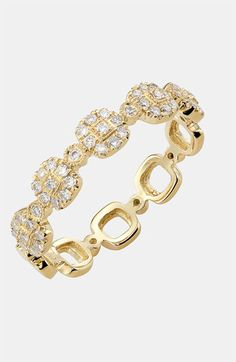 kismet by milka 'Lumiere' Diamond Square Ring | Nordstrom