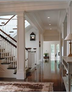 Favorite House Details. . . open staircase  design. Newel post column