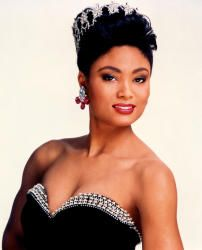Carole Gist the FIRST Black Miss USA 1990