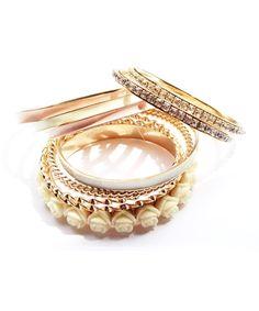 Flower Bling Bangle Bracelets #shoplately