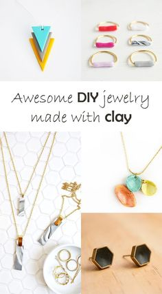Ohoh Blog - diy and crafts: DIY to try # Jewelry with clay