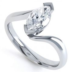 2 Claw Marquise Twist Engagement Ring 0.5 D SI1 £2138