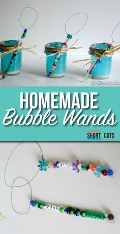 Need a fun craft to keep the kids busy or for an amazing party favor? Check out these easy Homemade Bubble Wands! Such a fun DIY Craft project for the kids! They make a great gift too! Check out the tutorial!