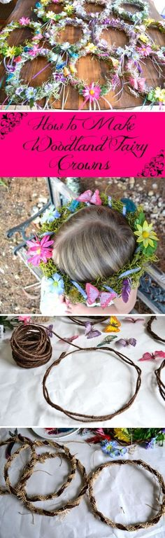 DIY Fairy Crowns.