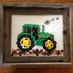 Button Art: a tractor for my favorite farmer