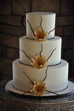 Zen Wedding Cake by Designer Cakes By April, via Flickr